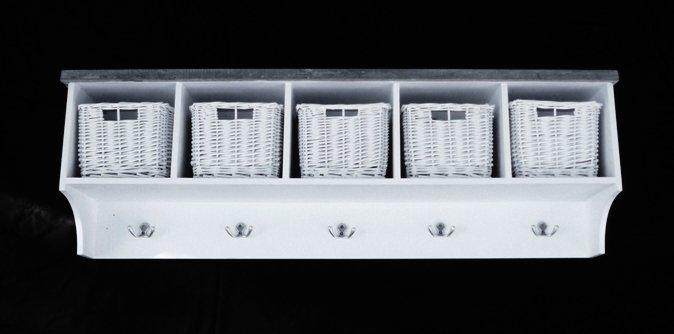 Hatthylla med korgar Möbler& Speglar Inredning Ebbesbutik se