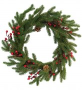 Wreath 50 cm pine cones and berries