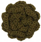 hande made wool flower olive