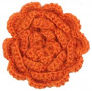 hande made wool flower oarange