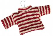 Christmas ornament sweater redwhite
