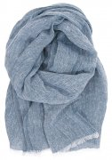 linen-scarf-shawl blueberry