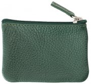 Leather purse dark green