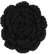 hande made wool flower black