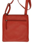 Lether bag flat light red medium