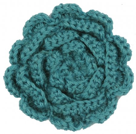 hande made wool flower turqoise