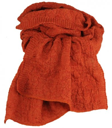wool scarf rust