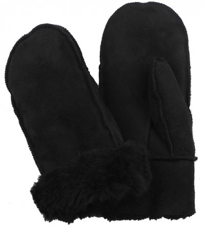sheepskin-mittens-black