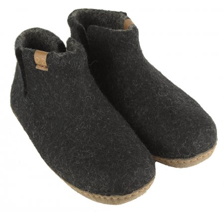 Green comfort wool slippers