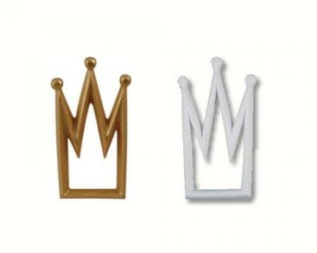 Väggdekor Grå : Väggdekor i trä form av en krona