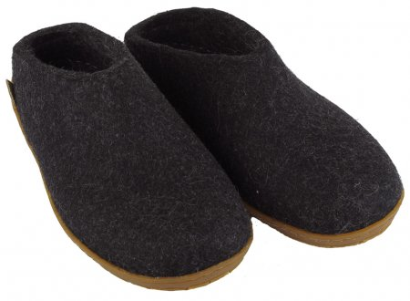 felted-wool slippers grahite